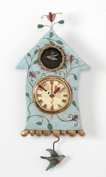 Allen Designs Fly Bird Clock New OVP Im Birdhouse Pendulum ...