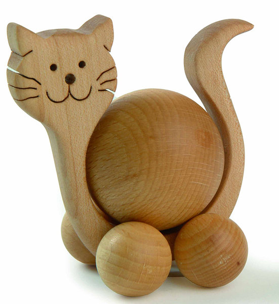 finkbeiner rolltier katze neu ovp 3cm kugel holz geschenk mini rollie tier deko ebay. Black Bedroom Furniture Sets. Home Design Ideas