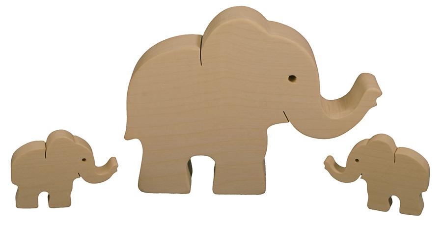finkbeiner holz design elefanten familie neu ovp elefant. Black Bedroom Furniture Sets. Home Design Ideas