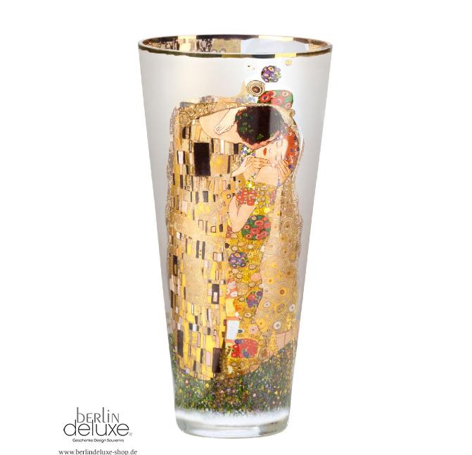 Klimt the kiss newnip 11 4 5in glass vase smoked artis orbis ao goebel art deco ebay - Glass art by artis ...