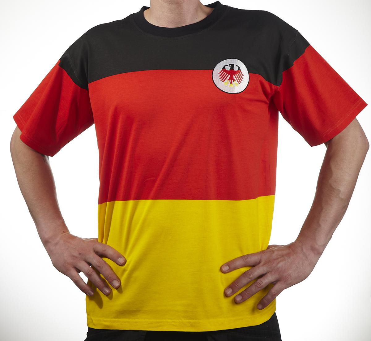 fanshirt deutschland flagge wm 2014 fan shirts bei berlindeluxe. Black Bedroom Furniture Sets. Home Design Ideas