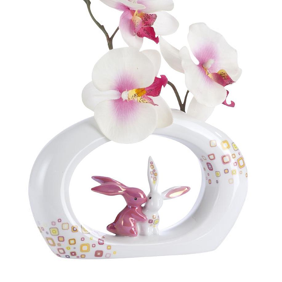 bunny deluxe vase pink retro goebel hase bei bd online kaufen. Black Bedroom Furniture Sets. Home Design Ideas