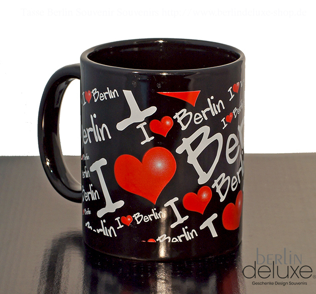i love berlin mug black german gifts souvenirs online shop. Black Bedroom Furniture Sets. Home Design Ideas