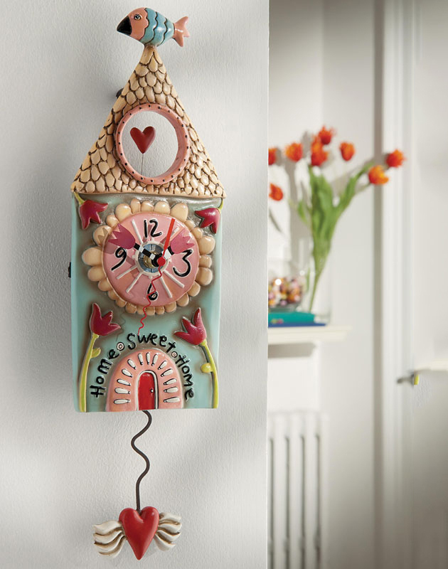 allen designs home sweet home clock neu ovp witzige. Black Bedroom Furniture Sets. Home Design Ideas