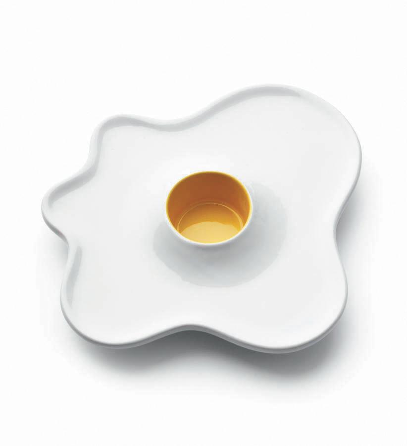 Eierbecher im Spiegelei Design LUCKIES Fried Egg Cup Be-Deluxe