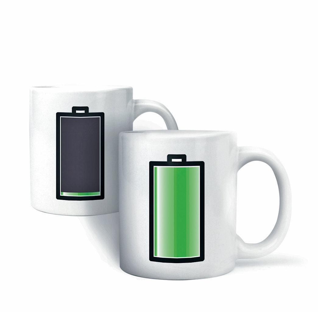 tasse batterie neu ovp morphing mug akku keramik kaffee becher thermoeffekt ebay. Black Bedroom Furniture Sets. Home Design Ideas