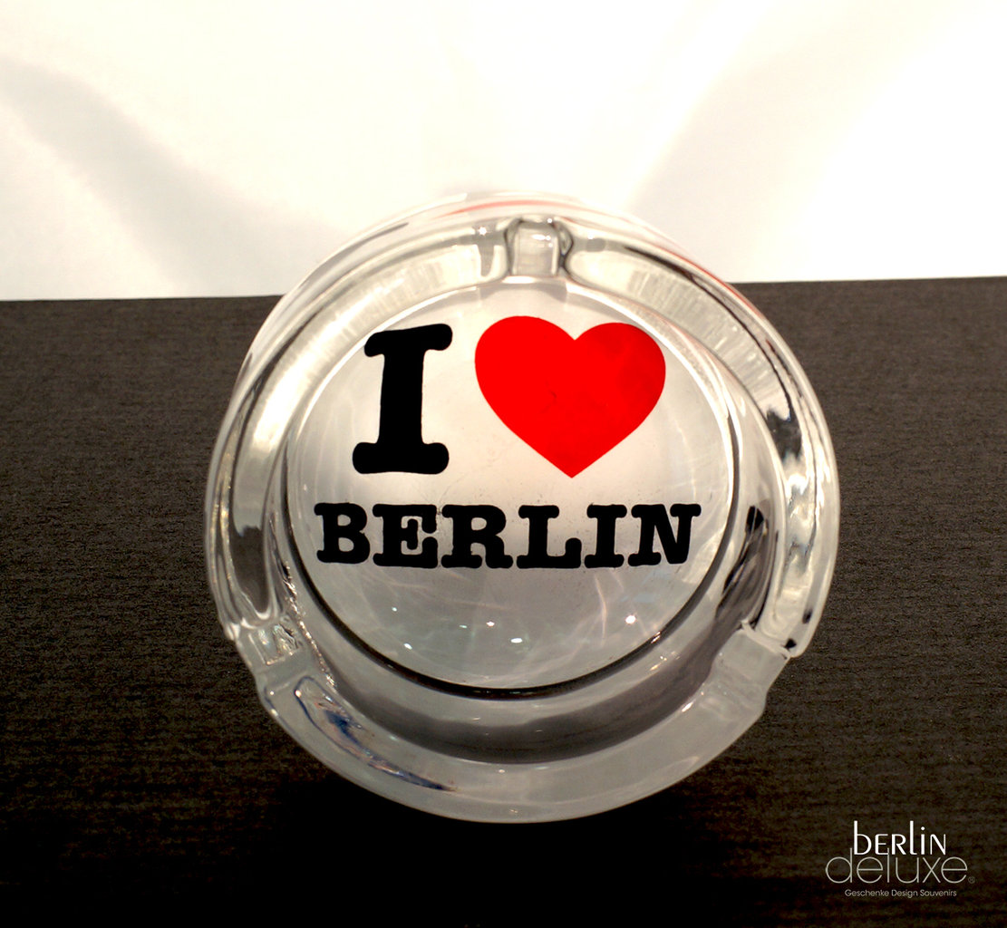 ashtray i love berlin gifts design berlin souvenirs online. Black Bedroom Furniture Sets. Home Design Ideas