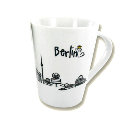 kaffeebecher berlin skyline porzellan becher berlin deluxe shop. Black Bedroom Furniture Sets. Home Design Ideas