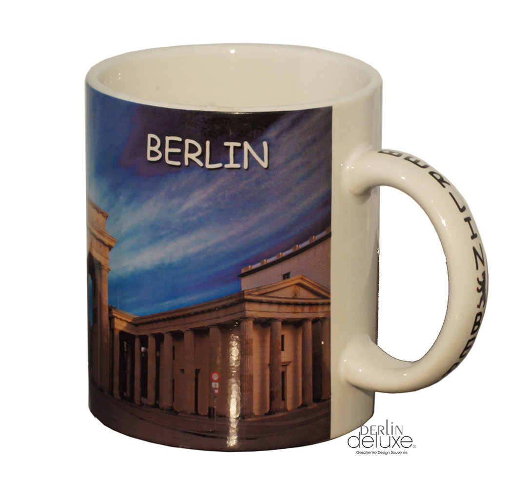 mug brandenburger tor berlin souvenirs at berlindeluxe online. Black Bedroom Furniture Sets. Home Design Ideas