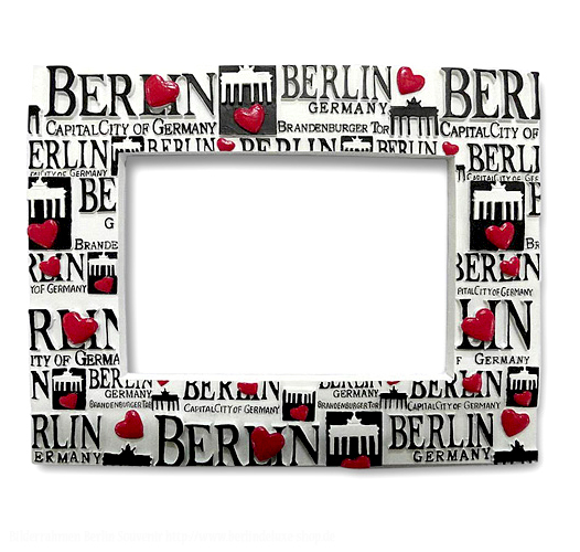 bilderrahmen berlin herz foto rahmen berlin deluxe souvenirs. Black Bedroom Furniture Sets. Home Design Ideas