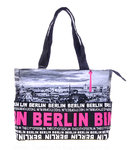 Foto Tasche Skyline City Shopper Pink