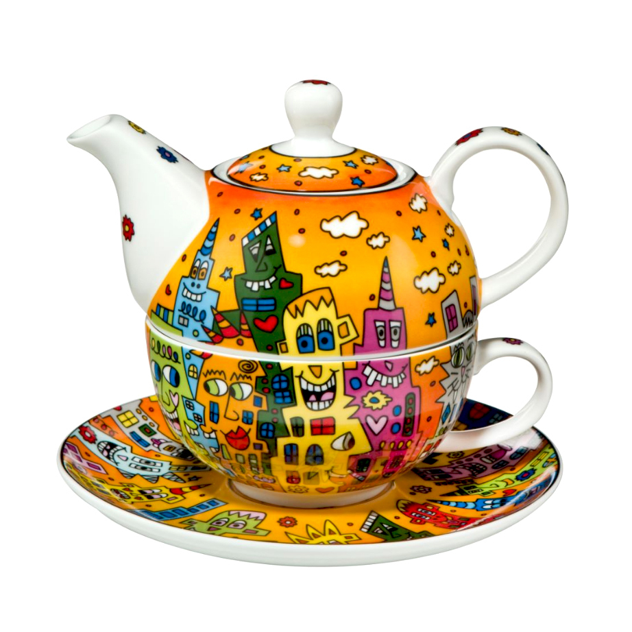 Rizzi Teacup Amp Teapot Quot Tea For One Quot Pop Art Design Gifts