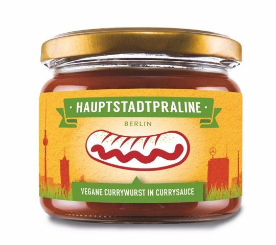 berliner currywurst vegan im glas hauptstadtpraline online. Black Bedroom Furniture Sets. Home Design Ideas