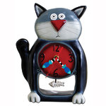 Black Kitty Clock - Allen Designs