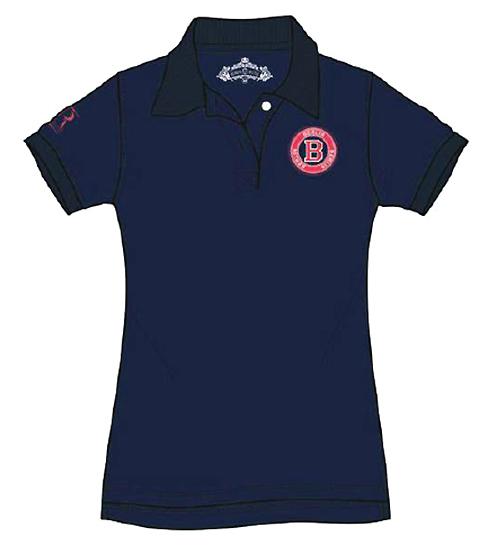 9e557b429771d5 Robin Ruth Damen Poloshirt B Stamp Berlin Blau BerlinDeluxe Shop