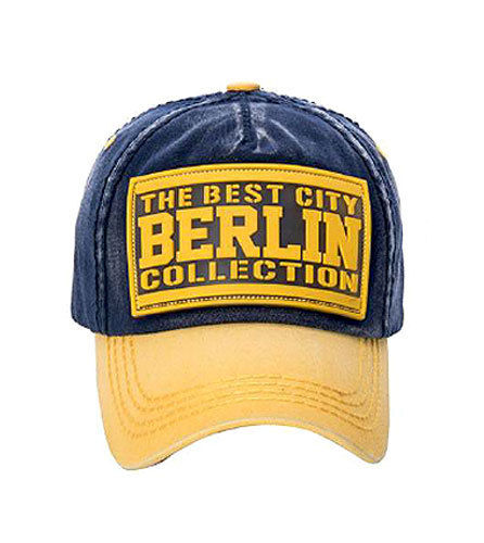 Cap the Best City Berlin gelb/blau von Robin Ruth