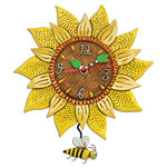 Bee Sunflower Clock - Allen Designs
