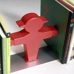 Ampelmann Buchhalter bookend red