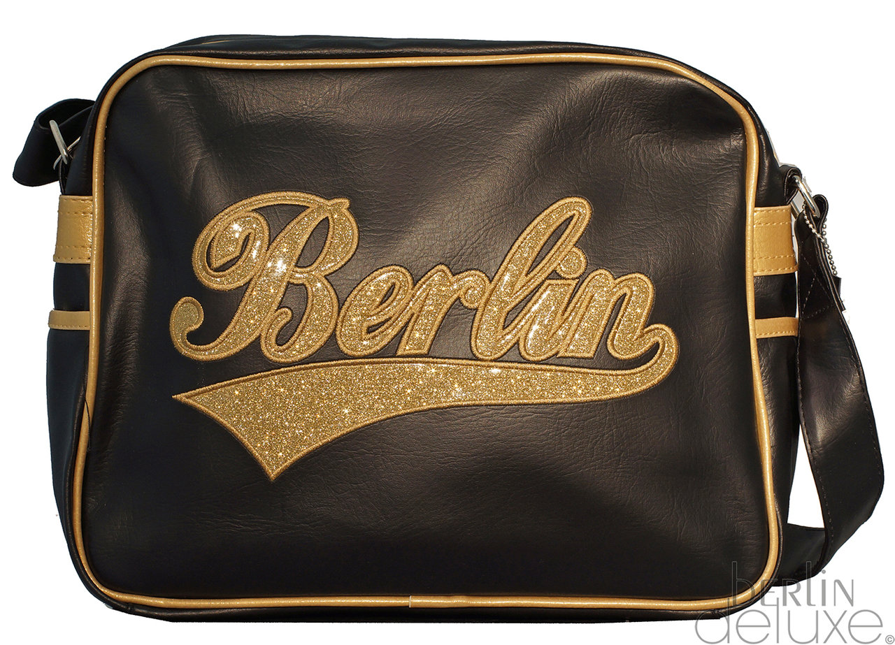 Gold Neworiginal Berlin Shoulder Package Bag Glitter Sal Black H9YWD2IE
