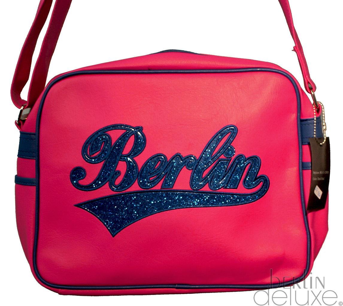 SAL Tasche Berlin NEU//OVP Umhängetasche grau silber Glitzer Effekt City Bag