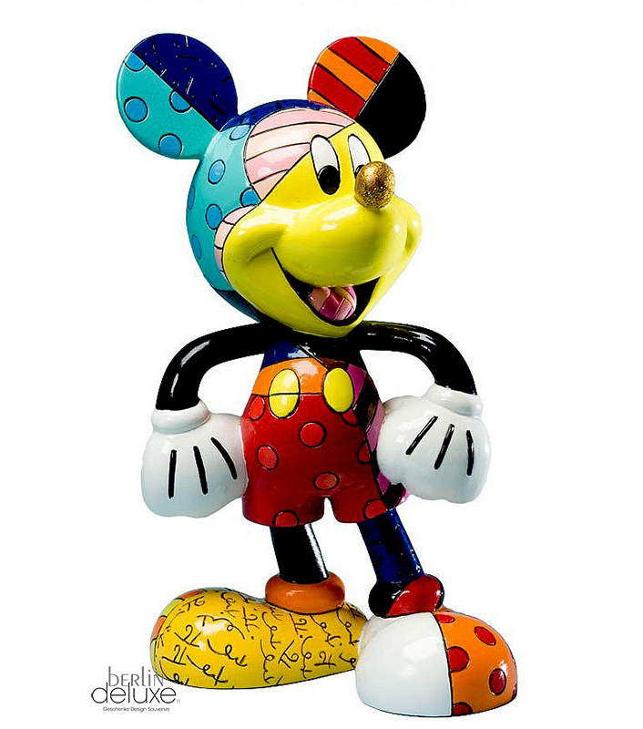 mickey maus figur britto disney goldene nase. Black Bedroom Furniture Sets. Home Design Ideas