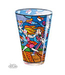 Britto Vase Love Blossoms Glas