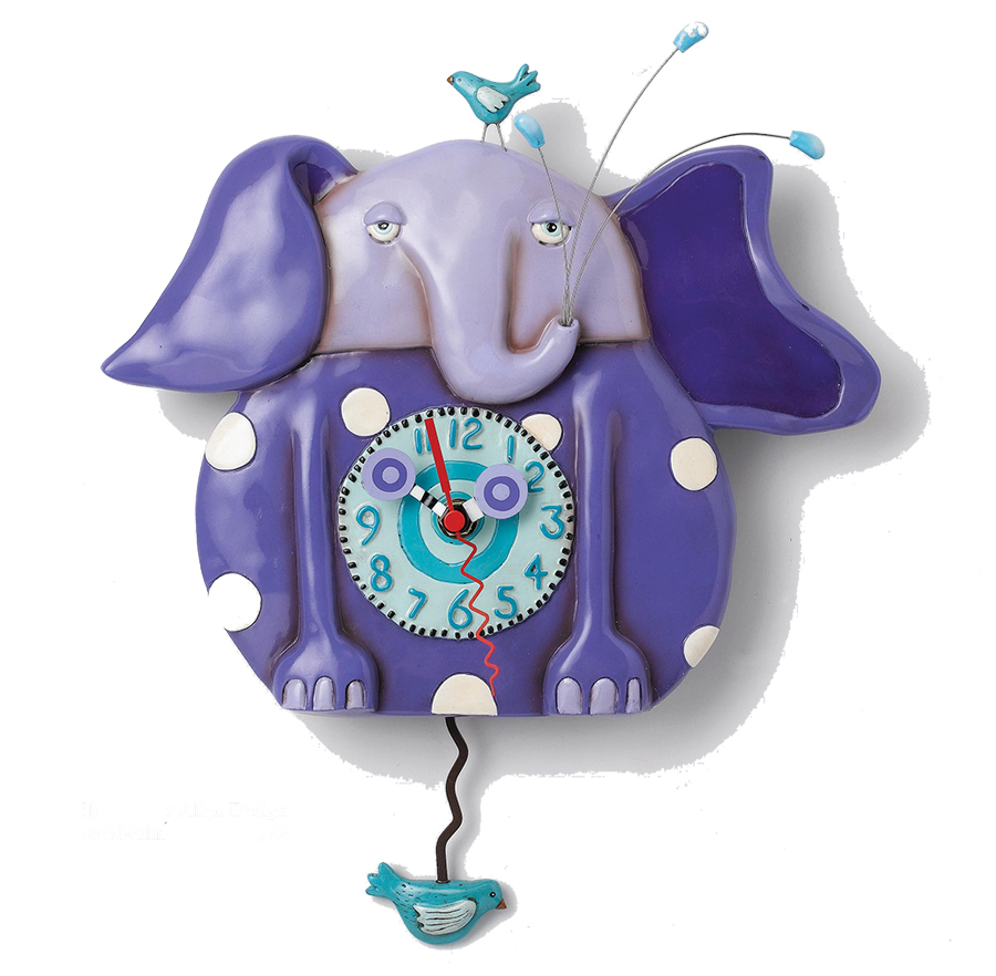 Allen Designs Quot Purple Elephant Quot Clock Online Berlin
