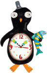 Slappy Feet Clock - Pinguin
