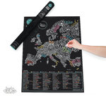 Scratch Map Gourmet - XL Karte zum rubbeln LUCKIES Scratchmap