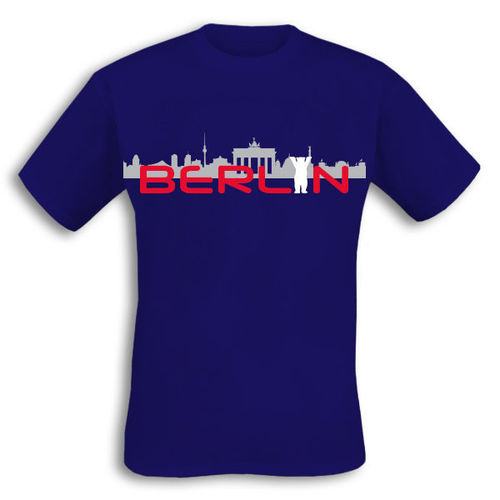 "T-Shirt ""Berlin Skyline blau"""