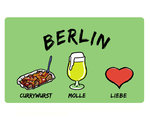 Carving Board Currywurst Beer & Love