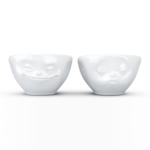 Dip Bowl Set No.1 - grining & kissing funny bowls by Fiftyeight