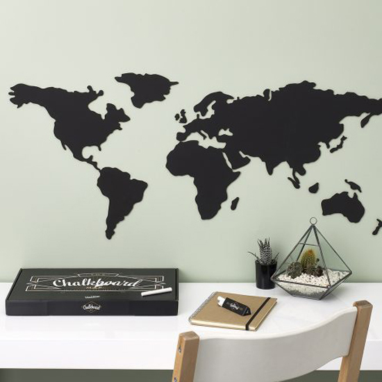 Chalkboard map worldmap by luckies gifts souvenirs shop chalkboard map chalkboard map gumiabroncs Images
