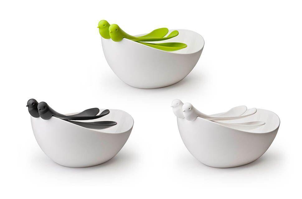 spatz salatschüssel und besteck