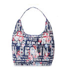 Shoulder City Bag Berlin Flowers Blue Red