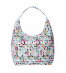Shoulder City Bag Berlin Flowers White Red