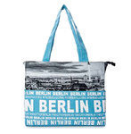 Foto Tasche Skyline City Shopper Hellblau