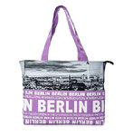 Foto Tasche Skyline City Shopper Hellviolett