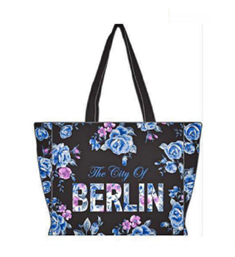 Berlin Flowers City Shopper Blau