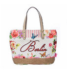 City Bag Berlin Butterfly - pink L