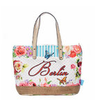 City Bag Berlin Butterfly - blue L