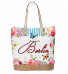 City Bag Berlin Butterfly - blue M
