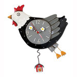 Flew the coop - Huhn als Uhr
