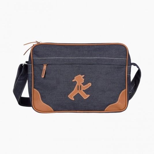 Dettagli su Semaforo Uomo Trainer Borsa NuovoScatola Originale Jeans Denim Look CITY BAG Berlino souvenir mostra il titolo originale