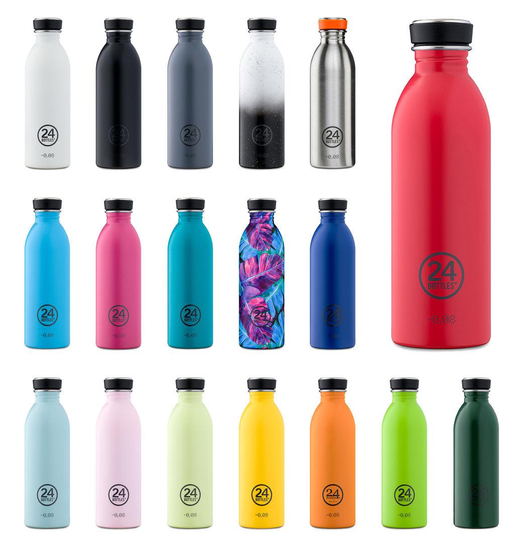 24 bottles trinkflasche edelstahl neu ovp 0 5l design. Black Bedroom Furniture Sets. Home Design Ideas