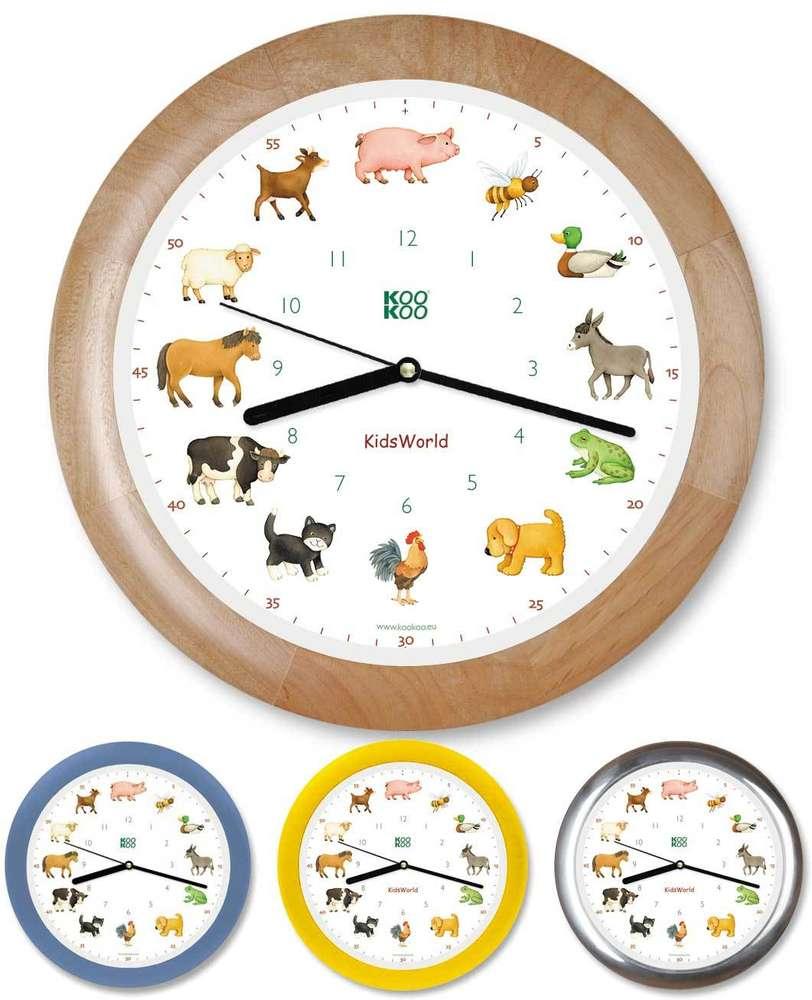 KidsWorld Uhr mit Tierstimmen von KOOKOO im Berlin Deluxe Shop