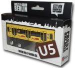 Miniature wooden subway Berlin U5