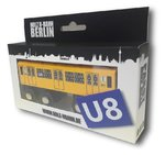 Miniature wooden subway Berlin U8
