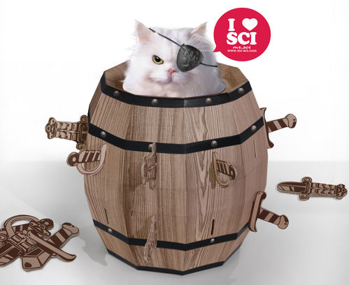 Cat Barrel - Cat Play House by Mr. Sci