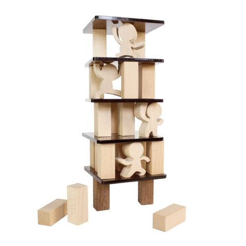 Decorative Wood Tumble Tower Game
